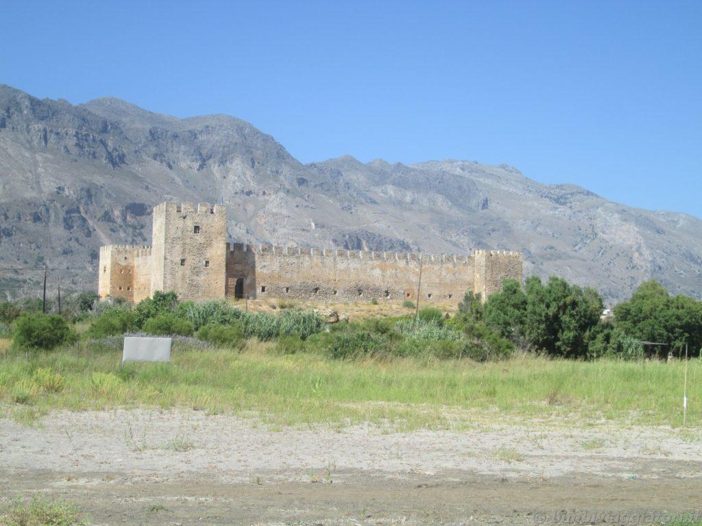 Castello Frangokastello nella parte Sud-Ovest di Creta