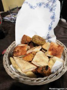 Cesto di pane in Salento