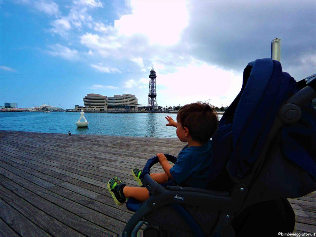 Organizzare un viaggio a Barcellona con i bambini Port Vell