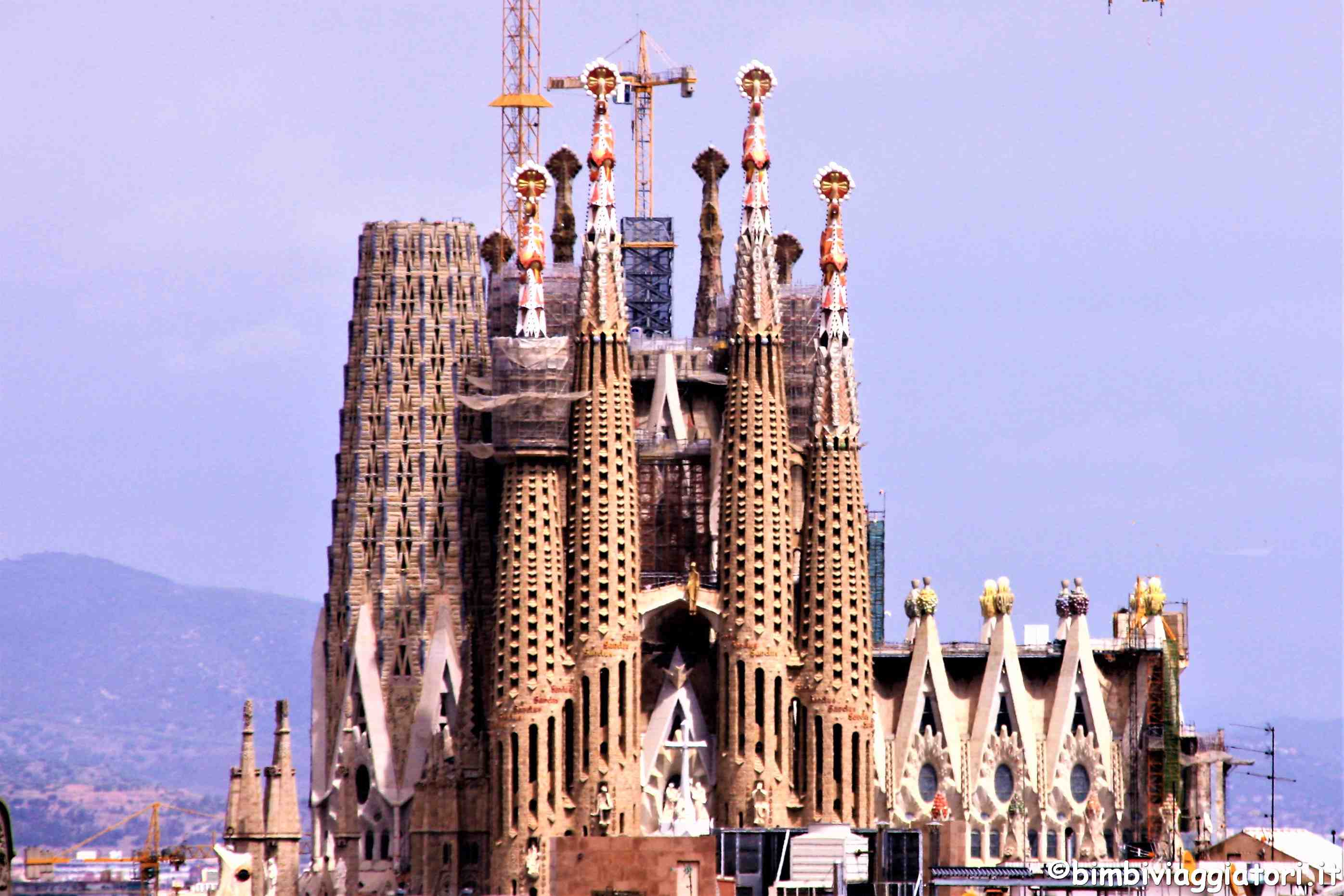 Organizzare un viaggio a Barcellona con i bambini Sagrada Familia