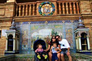 Plaza de Espana con i bambini