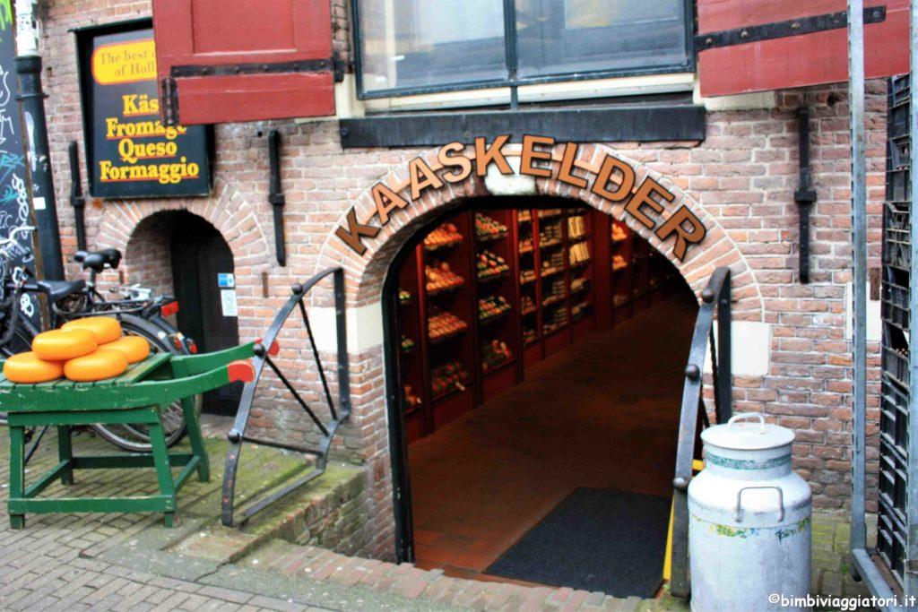 Negozio di formaggio in Olanda