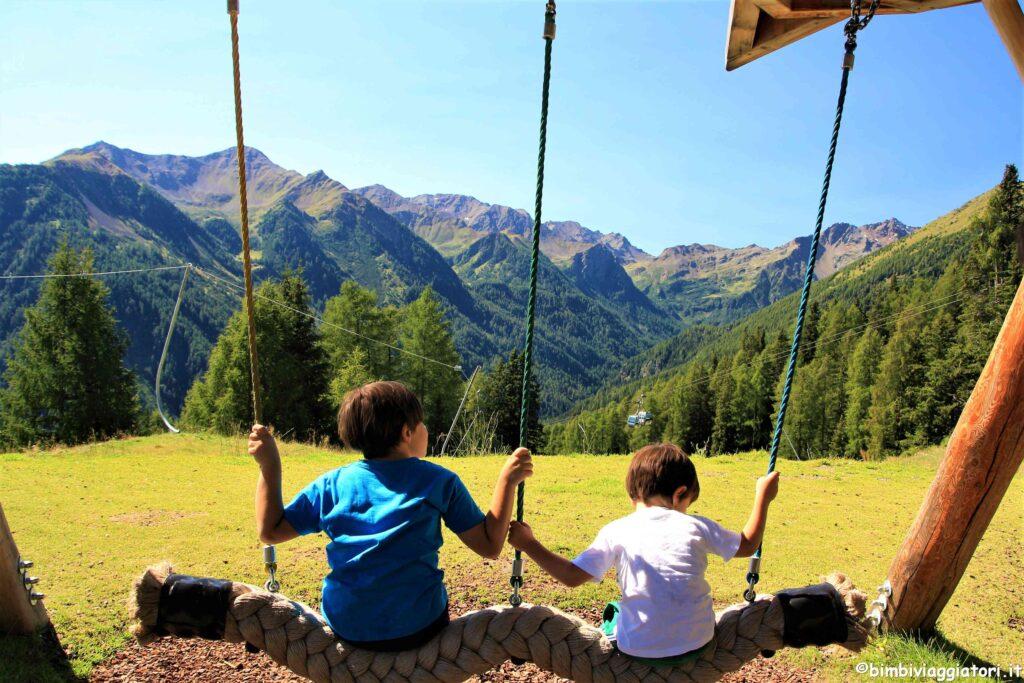 Pejo Kinderland altalene una Vacanza in Trentino per famiglie