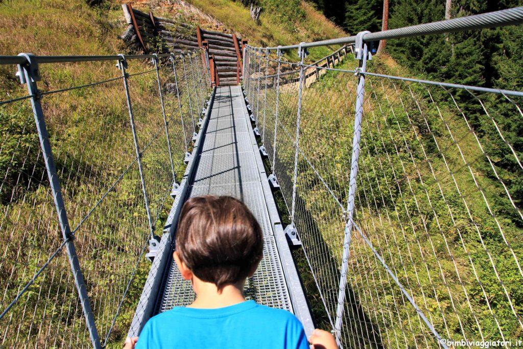 Ponte sospeso Val di Sole