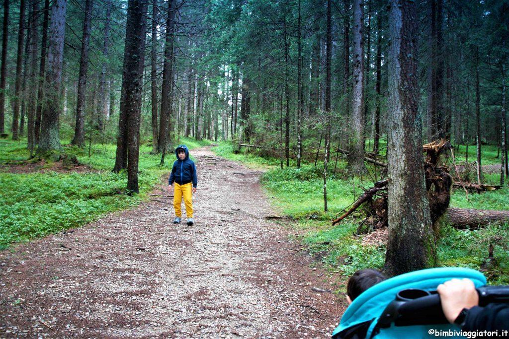 Parco Dobbiaco con passeggino